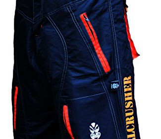 76bab62c1 Astek Men s Orange Black MTB BMX Baggy Padded Mountain Bike Shorts ...